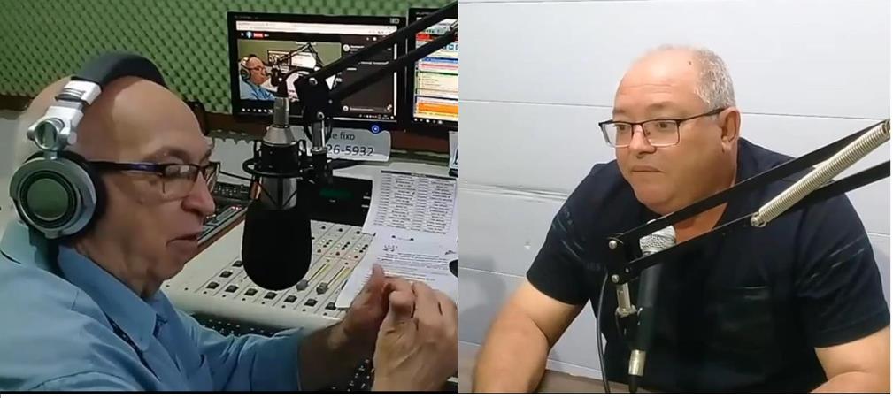 Jornalista Leoncio Corrêa entrevistando Vereador Chiquinho